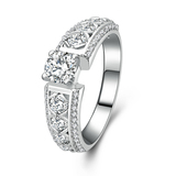 r1024 Light Weight Hot Sale Jewelry 925 Sterling Silver White Gold Filled Engagement Ring