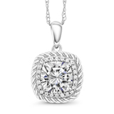 n3019 silver925 sterling silver cubic zircon pendant necklace silver necklace  jewelry birthday gi