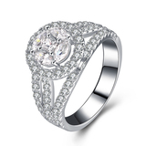 r1023 Jewelry Silver White Gold 925 Sterling Filled Engagement Ring With Charming in Wholesale