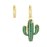 e2010 Europe and the United States the new personality asymmetric earrings 925 silver cactus female