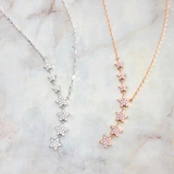 n3035 Light luxury 925 silver necklace inlaid gemstone chain sweater chain long chain crystal