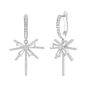 e2014 sterling 925 silver inlaid zircon frost snow earrings design with a small cold wind earrings