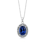 n3023 necklace 925 sterling silver zircon pendant silver necklace  jewelry Color stone