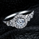 r1019 New Design Jewelry 925 Sterling Silver White Gold Filled Engagement Ring