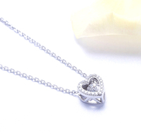 n3024 necklace 925 sterling silver zircon pendant silver necklace  jewelry love gift