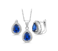 n3009 necklace 925 sterling silver zircon pendant silver necklace  jewelry Color stone