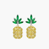 e2013 sterling 925 silver inlaid zircon personality female models pineapple earrings