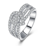 r1022 Jewelry 925 Sterling Silver White Gold Filled Engagement Ring With Charming in Wholesale