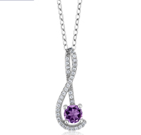 n3028 necklace 925 sterling silver zircon pendant jewelry Color stone Silver suit set