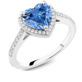 r1004  Colored stone ring fashion zircon 925 silver ring wedding gift birthday love silver jewelry