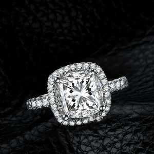 r1016 New Design Hot Sale Jewelry 925 Sterling Silver White Gold Filled Engagement Ring With Charmin