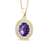 n3016 necklace 925 sterling silver zircon pendant silver necklace  jewelry Purple stone