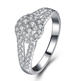 r1020 New Design Jewelry 925 Sterling Silver White Gold Filled Engagement Ring
