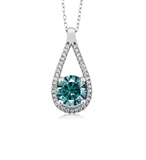 n3021 necklace 925 sterling silver zircon pendant silver chain necklace  jewelry Color stone