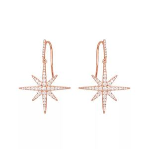 e2008 Star Earrings Rice Character Eight Stars Ear Studs 925 Sterling Silver Meteor Earrings