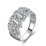 r1031 Fashion Wax Micro Setting Ring Wholesale Sterling 925 Silver Cubic Zirconia 18K Gold jewelry