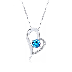 n3004 necklace silver cubic zircon pendant silver jewelry birthday gift sea style