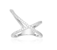 Cross ring X jewelry zircon Ar012428