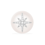 stars earrings Hexagon asterism style pearl zircon Ae021236